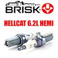 Hellcat 6.2L HEMI Spark Plugs ER12S by Brisk Racing - 16 Plug Package