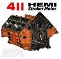 411 HEMI Stroker Engine Short Block - 6.4L Based by Modern Muscle Performance