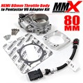 HEMI 80mm Throttle Body to Pentastar V6 Intake Adapter Kit by MMX