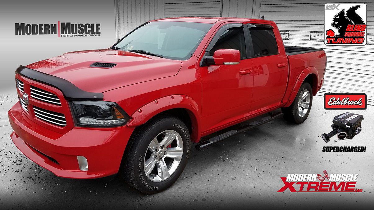 2015 HEMI Powered RAM Truck Edelbrock Supercharged Build by Modern Muscle Performance