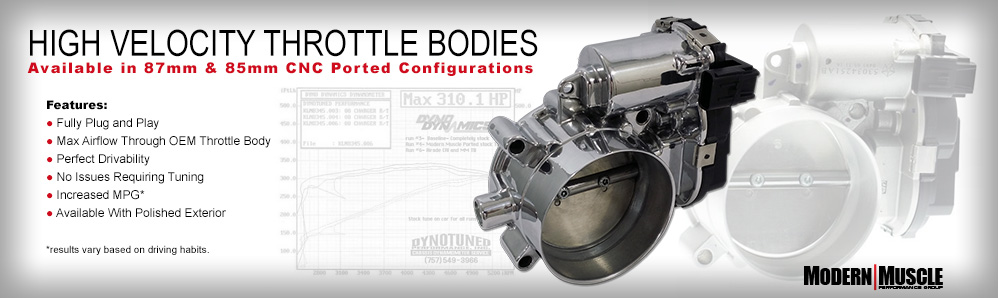 ModernMuscleXtreme High Velocity HEMI Throttle Bodies- Over 40 years of HEMI experience!