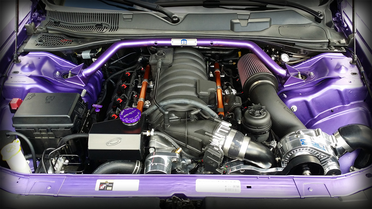 2014 392 HEMI Challenger Build Underhood Shot by Modern Muscle Performance