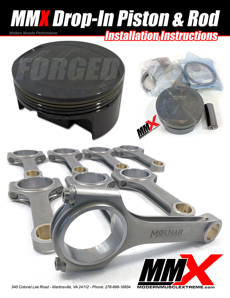 HEMI Forged Drop-In Pistons and Rods Installation Instructions by MMX / ModernMuscleXtreme.com!
