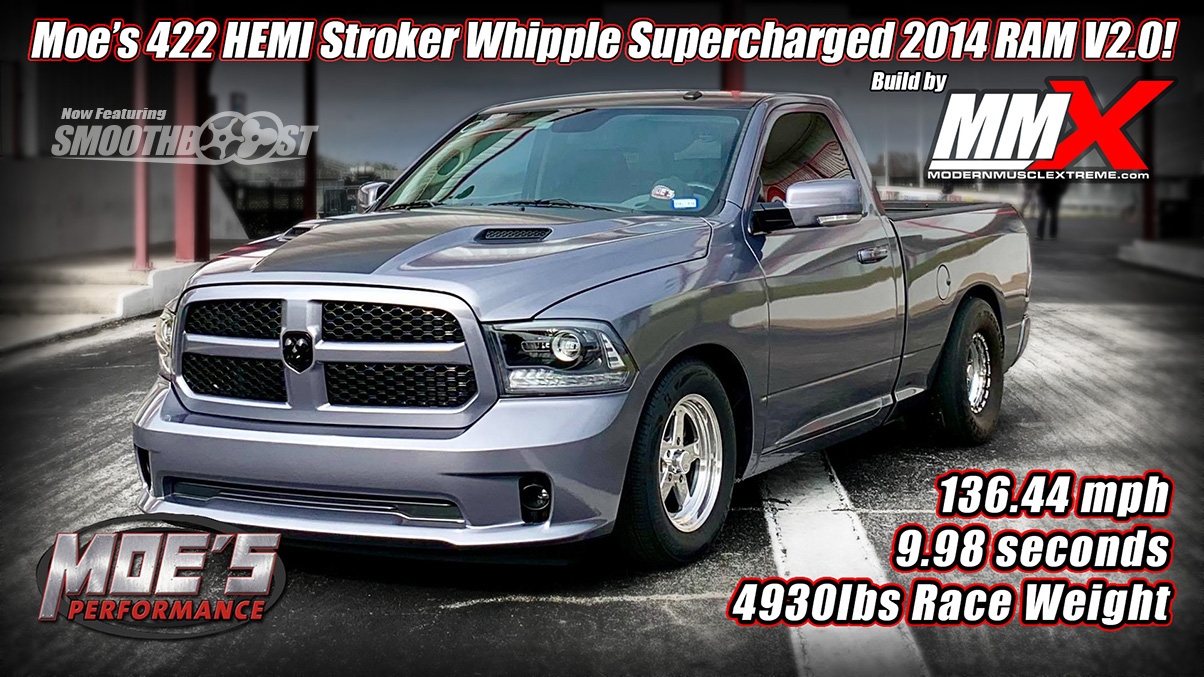 Moe's 422 HEMI Stroker Whipple Supercharged 2014 RAM Truck Build by MMX / ModernMuscleXtreme.com