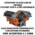 6.4L HEMI MMX with NSR Camshaft installed NA Long Block