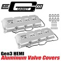 HEMI 5.7 6.4 Aluminum Valve Covers (Silver) by Mr Gasket