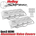 Sniper 5.7 6.4 HEMI Valve Covers (Silver) FREE BREATHER MACHINING