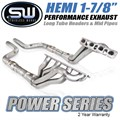 2006-2020 Dodge Charger 5.7L 6.1L 6.4L HEMI Power Series Exhaust Headers and Midpipes by Stainless Works