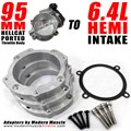 Hellcat 95mm Throttle Body Adapter to 6.4L HEMI Intake by Modern Muscle
