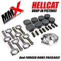 Hellcat 6.2L HEMI Forged Drop-In Pistons and Rods Package by MMX