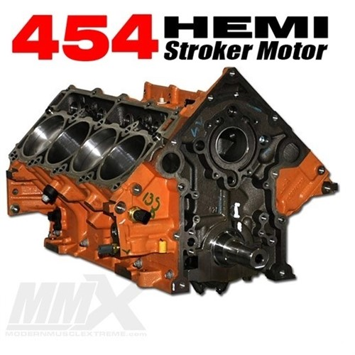 454 HEMI Stroker Engine Short Block - 6 4L Based by Modern