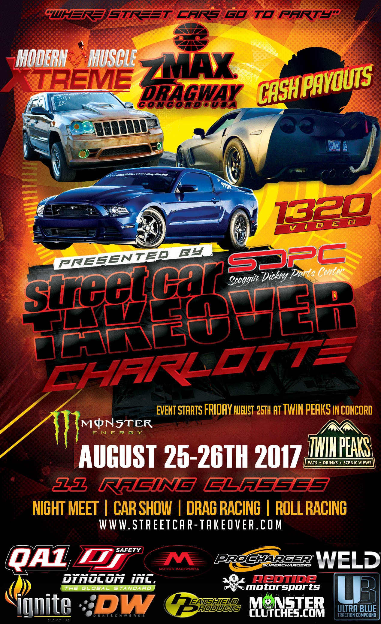 Street Car Takeover - Zmax Dragway, Charlotte, NC on August 25th - 26th!