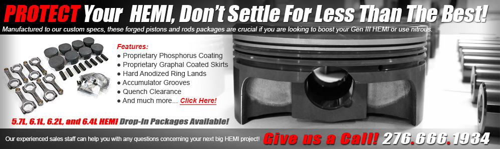 ModernMuscleXtreme Forged HEMI Drop-In Pistons - Over 40 years of HEMI experience!