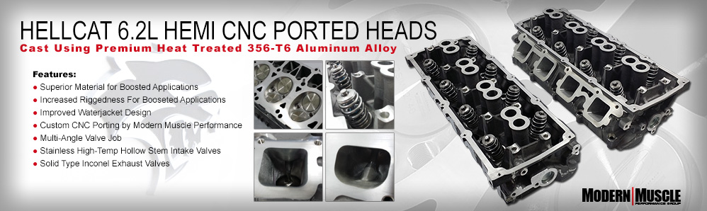 ModernMuscleXtreme.com Hellcat 6.2L HEMI CNC Ported Heads - Over 40 years of HEMI experience!