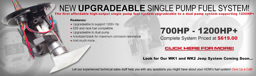 ModernMuscleXtreme offers the best HEMI single pump upgradeable high output fuel system!