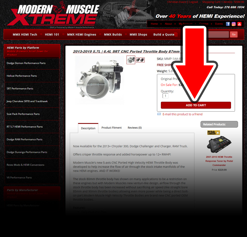 Add HEMI Parts to Your Cart!